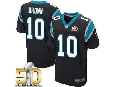 Nike Carolina Panthers  10 Corey Brown Black Team Color Super Bowl 50 Men   3c6cf6a5e