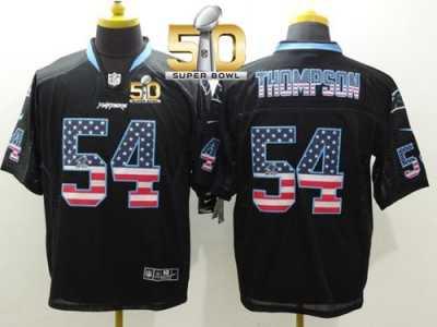 Nike Carolina Panthers  54 Shaq Thompson Black Super Bowl 50 Men s Stitched  NFL Elite USA 911b4619d