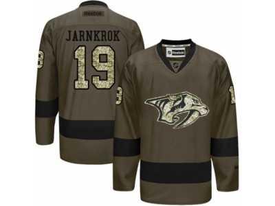 Men  s Reebok Nashville Predators  19 Calle Jarnkrok Authentic Green Salute  to Service 7dce85209