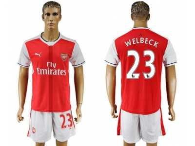 653cbd0b7 Arsenal  23 Welbeck Home Soccer Club Jersey Arsenal  23 Welbeck Home ...