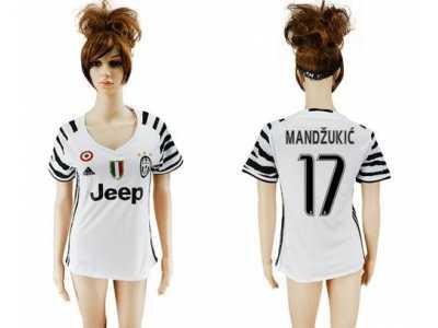 eda0d0283b0 Women s Juventus  17 Mandzukic Sec Away Soccer Club Jersey Women s ...