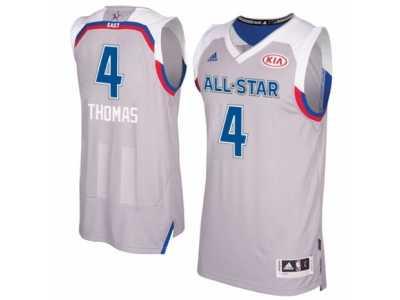 6efe173d6 Men  s Adidas Boston Celtics  4 Isaiah Thomas Swingman Gray 2017 All Star