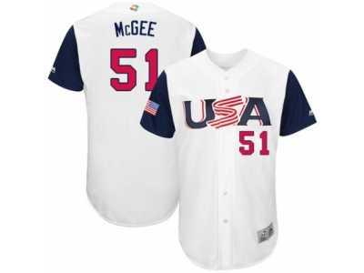 ae90a8024 Youth USA Baseball Majestic  51 Jake McGee White 2017 World Baseball  Classic Authentic Team Jersey