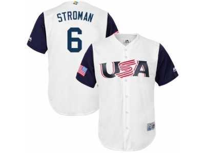 3c7f8f22b Youth USA Baseball Majestic  6 Marcus Stroman White 2017 World Baseball  Classic Replica Team Jersey