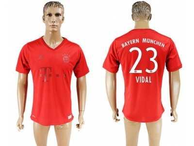 7b44bf8fe86 Bayern Munchen  23 Vidal Marine Environmental Protection Home Soccer Club  Jersey