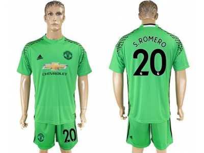 3b597a0df Manchester United  20 S.Romero Green Goalkeeper Soccer Club Jersey 2 ...