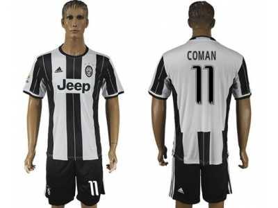 2497dde2681 Juventus  11 Coman Home Soccer Club Jersey 3 Juventus  11 Coman Home ...