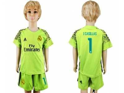 32ed16d59 ... store real madrid 1 isillas shiny green goalkeeper kid soccer club  jersey 1aa91 38f78