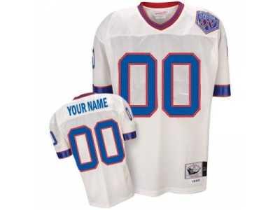 sale retailer e785b 91fb6 Customized Buffalo Bills Jersey Throwback White Football ...