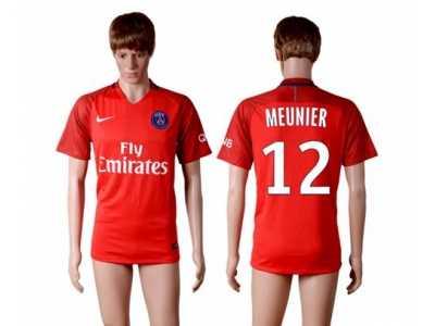 paris saint germain 12 meunier red soccer club jersey