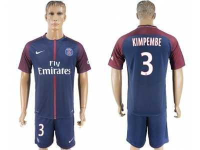 paris saint germain 3 kimpembe home soccer club jersey
