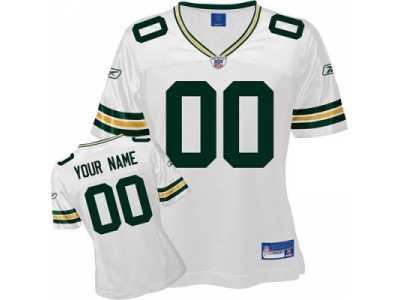 bdd785e54 Customized Green Bay Packers Jersey White Football Customized Green ...