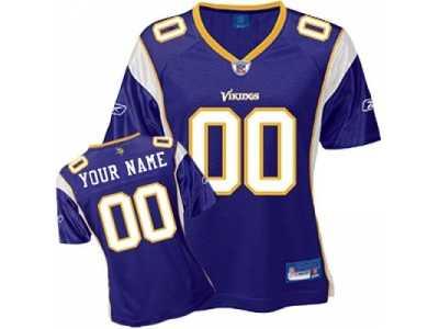 9baf9bb646f Customized Minnesota Vikings Jersey Eqt White Football Customized ...