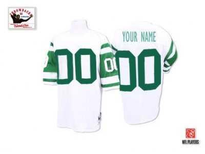 promo code 44071 fc0e6 Customized New York Jets Jerseys Throwback White Football ...