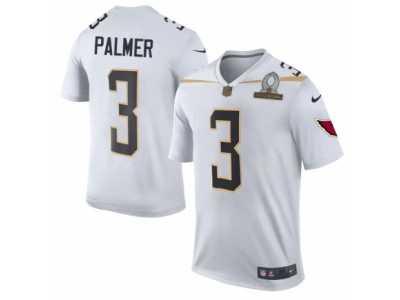Men s Nike Arizona Cardinals  3 Carson Palmer Elite White Team Rice 2016  Pro Bowl NFL 46001486b