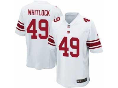 38fe42427 Men's Nike New York Giants #49 Nikita Whitlock Game White NFL Jersey ...