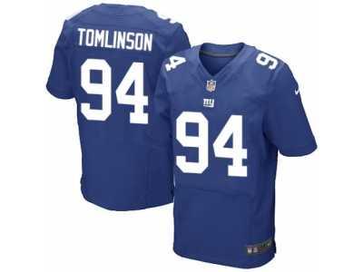 0235e084f ... Men s Nike New York Giants  94 Dalvin Tomlinson Elite Royal Blue Team  Color NFL Jersey