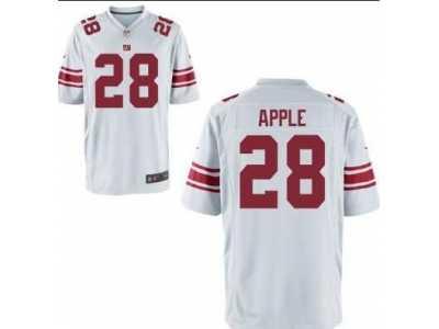 ef60412e7 real nike new york giants 28 eli apple white team color mens stitched nfl  elite jersey