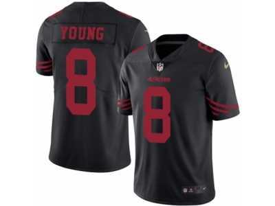 e0fdf4e8d Men s Nike San Francisco 49ers  8 Steve Young Elite Black Rush NFL ...