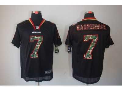 99d193229 Nike NFL San Francisco 49ers  7 Colin Kaepernick Black Jerseys(Elite Lights  Out Camo