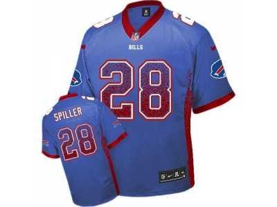 Nice Nike Buffalo Bills #28 C.J. Spiller Royal Blue Jersey(Elite Drift