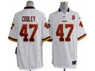 a4c081ec1 Nike NFL Washington Redskins  47 Chris Cooley white Jerseys W 80TH  Patch(Game)