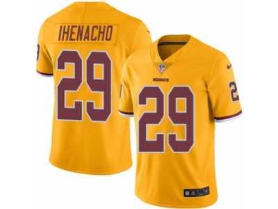 Nice Men's Nike Washington Redskins #29 Duke Ihenacho Elite Gold Rush NFL  supplier