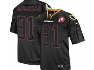 0502bb7de Nike NFL Washington Redskins  91 Ryan Kerrigan Black Jerseys W 80TH  Patch(Lights Out