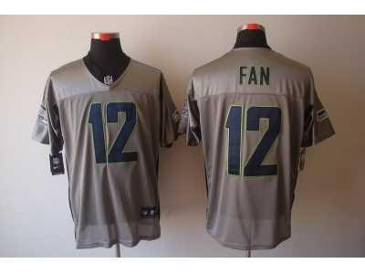 b8f388d9f4b Nike NFL Seattle Seahawks #12 Fan Grey Jerseys[Shadow Elite] Nike ...