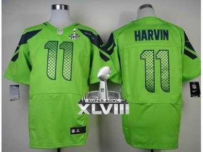 Nike Seattle Seahawks  11 Percy Harvin Green Alternate Super Bowl XLVIII  NFL Elite Jersey ad40413d0