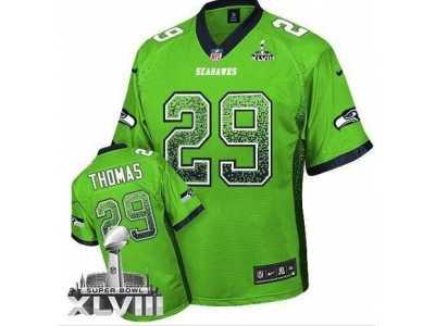 Nike Seattle Seahawks  29 Earl Thomas Green Super Bowl XLVIII NFL Elite  Drift Fashion Jersey bb1894fcf