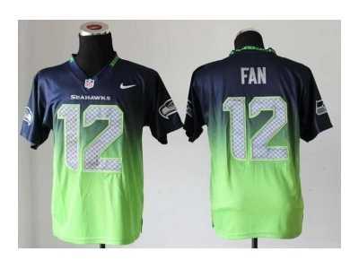 ... Nike jerseys seattle seahawks  12 fan blue-green Elite II drift fashion  87f1cdd11