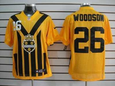 Nice Nike NFL Pittsburgh Steelers #99 Keisel Yellow Black 80th Throwback