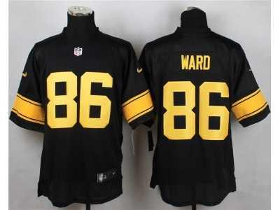 cf090cadd Nike Pittsburgh Steelers #86 ward Black Jerseys(Gold No Elite) Nike ...