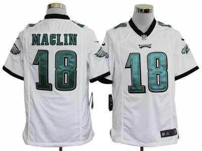 Nike NFL Philadelphia Eagles  18 Jeremy Maclin White Game Jerseys ... 373c4e1ce