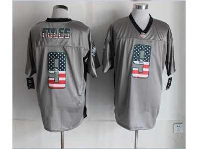 8ceec938d Nike Philadelphia Eagles  9 Nick Foles grey Jerseys(Elite USA Flag Fashion)