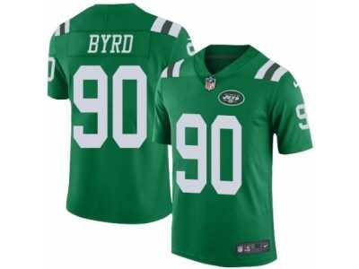 34b6d13b349 Men s Nike New York Jets  90 Dennis Byrd Elite Green Rush NFL Jersey