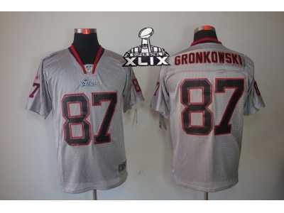 5e9760532 ... sale 2015 super bowl xlix nike nfl new england patriots 87 rob  gronkowski grey jerseys 8542b