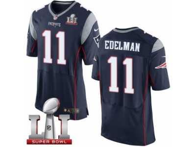 Men  s Nike New England Patriots  11 Julian Edelman Elite Navy Blue Team 7d3b9a4fc