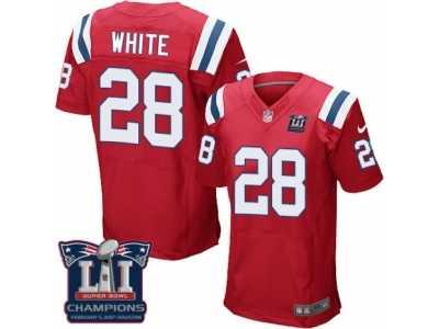 83a703373 Men  s Nike New England Patriots  28 James White Elite Red Alternate Super