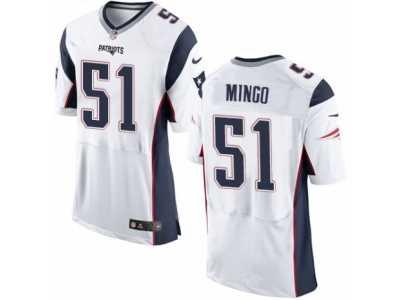 Men  s Nike New England Patriots  51 Barkevious Mingo Elite White NFL Jersey 58a3b5d57