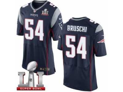 new concept e91ac 5101e Men's Nike New England Patriots #54 Tedy Bruschi Elite Navy ...