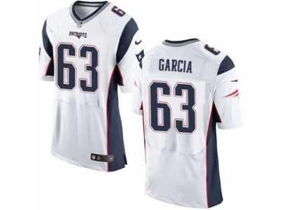 5c28c1242 Men s Nike New England Patriots  63 Antonio Garcia Elite White NFL Jersey