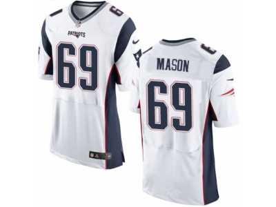 b465d7c4a Men  s Nike New England Patriots  69 Shaq Mason Elite White NFL Jersey