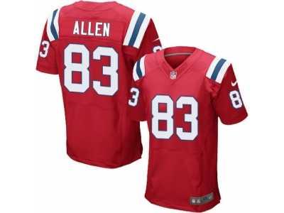 Men s Nike New England Patriots  83 Dwayne Allen Elite Red Alternate NFL  Jersey 3976ebc87
