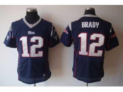 brand new 08279 a5403 Nike NFL new england patriots #12 tom brady blue Elite ...