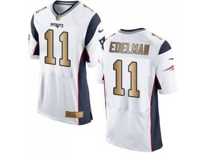 d3522be55 Nike New England Patriots  11 Julian Edelman White Men  s Stitched NFL New