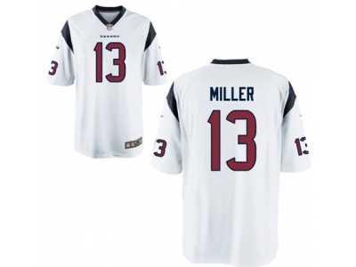 2733114d067 Men's Nike Houston Texans #13 Braxton Miller Game White NFL Jersey