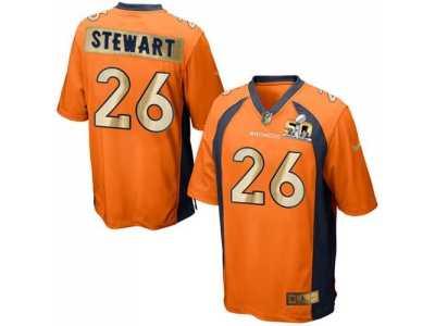 Nike Denver Broncos  26 Darian Stewart Orange Team Color Men s Stitched NFL  Game Super Bowl ff01e65f3