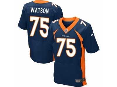 Men s Nike Denver Broncos  75 Menelik Watson Elite Navy Blue Alternate NFL  Jersey 646dea254